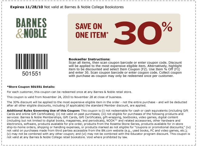 free new printable coupons for barnes and noble books