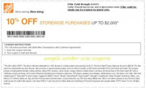 10 percent off The Home Depot retail coupon tools