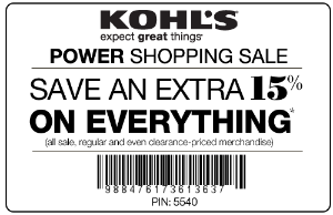 Kohl's Coupon batch April and May