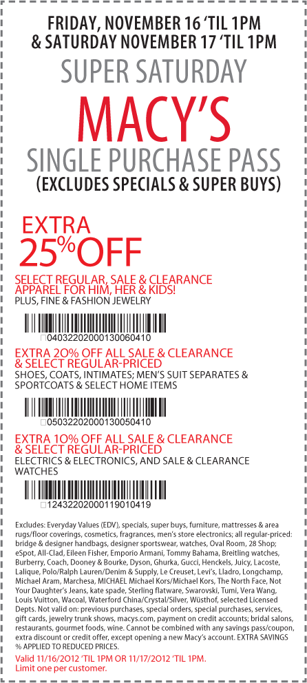 Macys Coupons – Printable