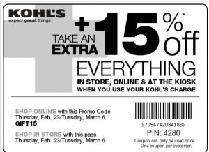kohls-coupon-15 percent-Kohl's Coupon batch April and May