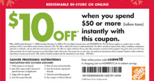 Home Depot May Coupons