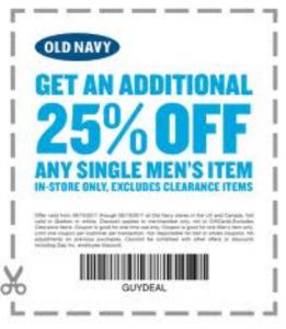 Old Navy Printable Coupons May