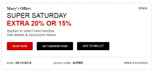 Macys Savings June