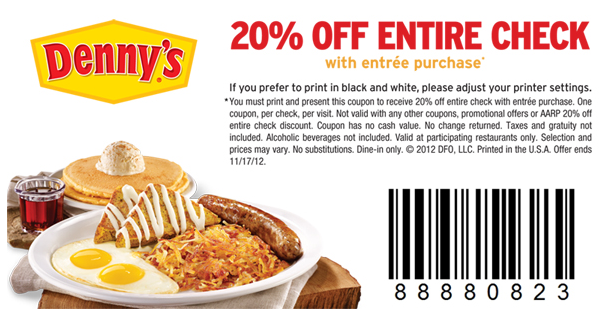 dennys printable coupons dennys coupons free printable coupons 21346