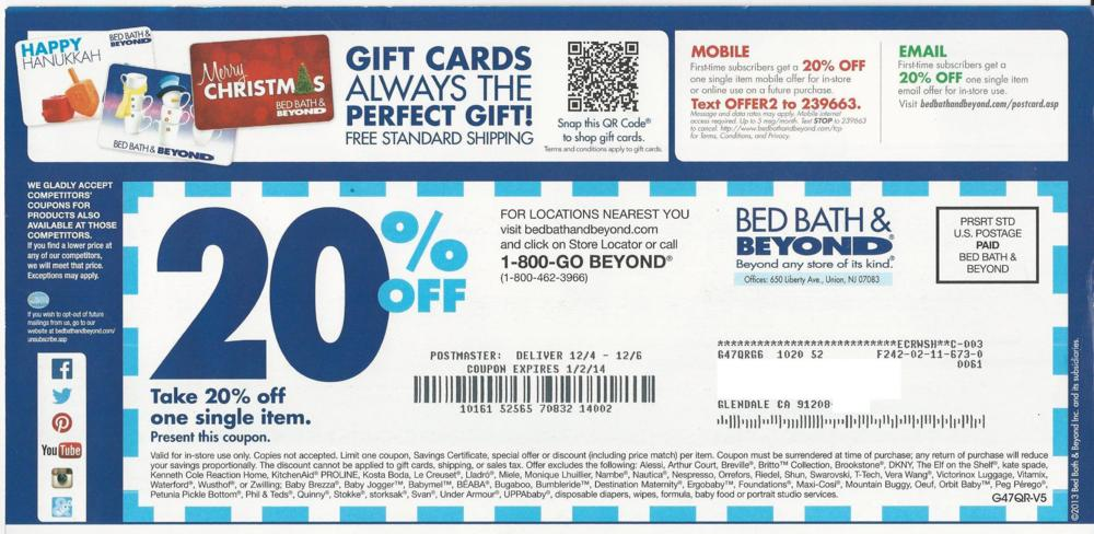 bed bath and beyond 20 off coupon printable bed bath amp beyond printable coupons 13554